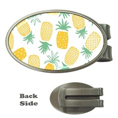 Pineapple Fruite Seamless Pattern Money Clips (oval)