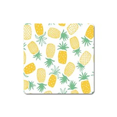 Pineapple Fruite Seamless Pattern Square Magnet