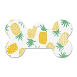 Pineapple Fruite Seamless Pattern Dog Tag Bone (Two Sides) Back