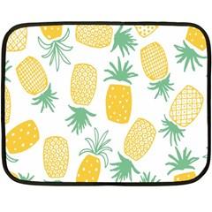 Pineapple Fruite Seamless Pattern Double Sided Fleece Blanket (mini)