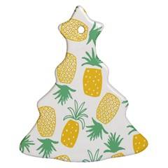 Pineapple Fruite Seamless Pattern Christmas Tree Ornament (two Sides)