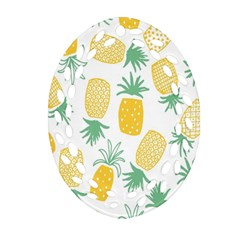 Pineapple Fruite Seamless Pattern Oval Filigree Ornament (two Sides)