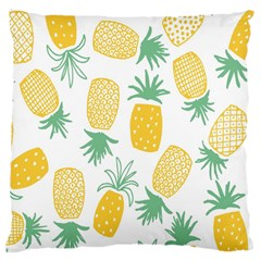 Pineapple Fruite Seamless Pattern Large Cushion Case (two Sides)