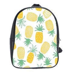 Pineapple Fruite Seamless Pattern School Bag (xl)