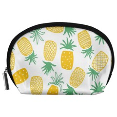 Pineapple Fruite Seamless Pattern Accessory Pouches (large)