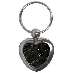 Neurons Light Neon Net Key Chains (heart)