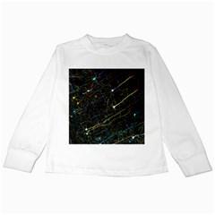 Neurons Light Neon Net Kids Long Sleeve T Shirts