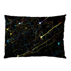 Neurons Light Neon Net Pillow Case