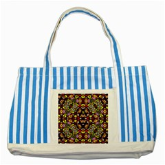 Queen Design 456 Striped Blue Tote Bag