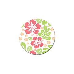 Hibiscus Pattern Pink Golf Ball Marker (4 Pack)