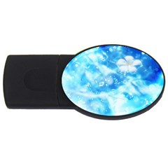 Liquid Blue Usb Flash Drive Oval (2 Gb)