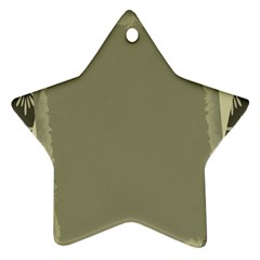 Moss Green Abstract Ornament (star)