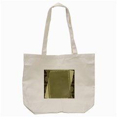 Moss Green Abstract Tote Bag (cream)