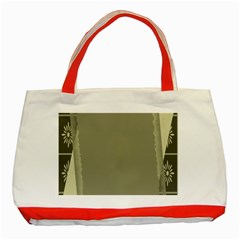 Moss Green Abstract Classic Tote Bag (red)