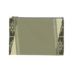 Moss Green Abstract Cosmetic Bag (large)