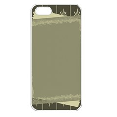 Moss Green Abstract Apple Iphone 5 Seamless Case (white)