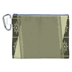 Moss Green Abstract Canvas Cosmetic Bag (xxl)