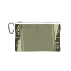 Moss Green Abstract Canvas Cosmetic Bag (s)