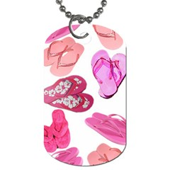 Pink Flops Dog Tag (two Sides)