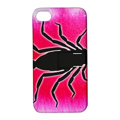 Pink Scorpio Apple Iphone 4/4s Hardshell Case With Stand