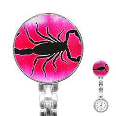 Pink Scorpio Stainless Steel Nurses Watch