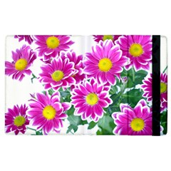 Pink White Flowers Apple Ipad 3/4 Flip Case