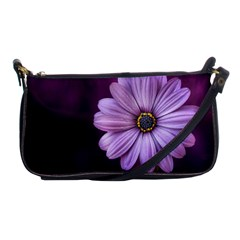 Purple Flower Shoulder Clutch Bags