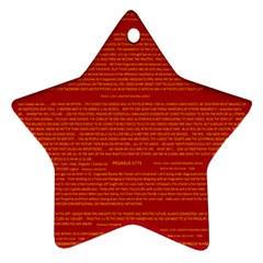 Mrtacpans Writing Grace Ornament (star)