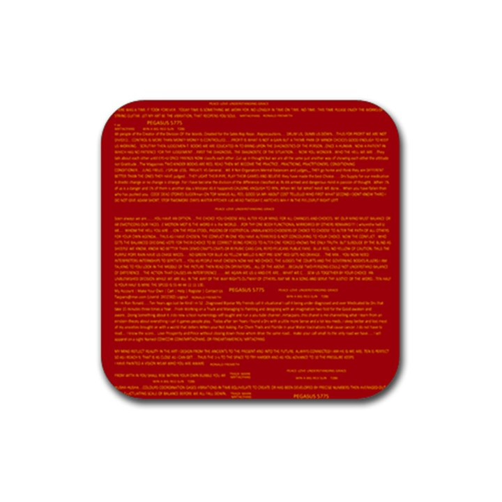 Mrtacpans Writing Grace Rubber Coaster (Square)