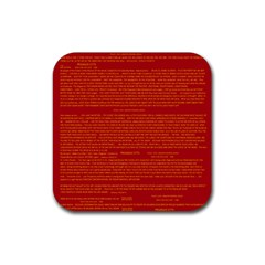 Mrtacpans Writing Grace Rubber Square Coaster (4 Pack)