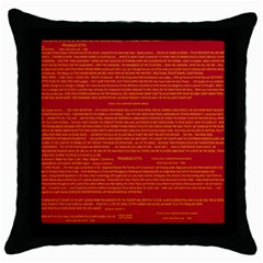 Mrtacpans Writing Grace Throw Pillow Case (black)
