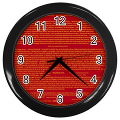 Mrtacpans Writing Grace Wall Clocks (black)