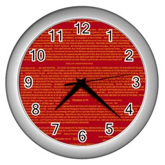 Mrtacpans Writing Grace Wall Clocks (silver)
