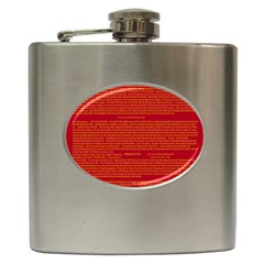 Mrtacpans Writing Grace Hip Flask (6 Oz)