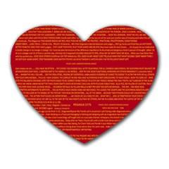 Mrtacpans Writing Grace Heart Mousepads