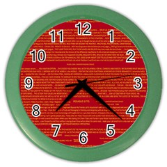 Mrtacpans Writing Grace Color Wall Clocks