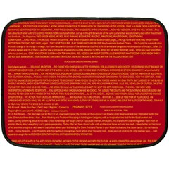 Mrtacpans Writing Grace Double Sided Fleece Blanket (mini)