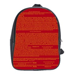 Mrtacpans Writing Grace School Bag (large)