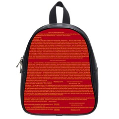 Mrtacpans Writing Grace School Bag (small)