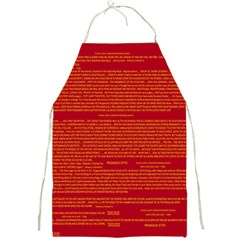 Mrtacpans Writing Grace Full Print Aprons