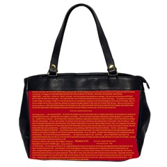 Mrtacpans Writing Grace Office Handbags (2 Sides)