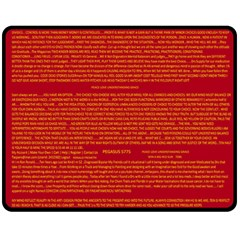 Mrtacpans Writing Grace Fleece Blanket (medium)