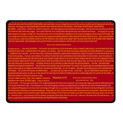 Mrtacpans Writing Grace Fleece Blanket (small)