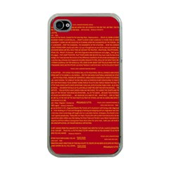 Mrtacpans Writing Grace Apple Iphone 4 Case (clear)