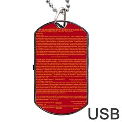 Mrtacpans Writing Grace Dog Tag Usb Flash (one Side)