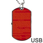 Mrtacpans Writing Grace Dog Tag USB Flash (One Side) Front