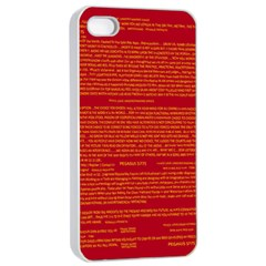 Mrtacpans Writing Grace Apple Iphone 4/4s Seamless Case (white)