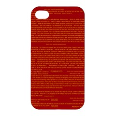 Mrtacpans Writing Grace Apple Iphone 4/4s Premium Hardshell Case