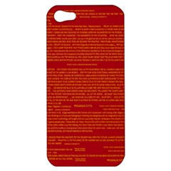 Mrtacpans Writing Grace Apple Iphone 5 Hardshell Case
