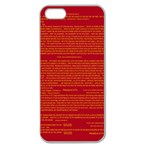 Mrtacpans Writing Grace Apple Seamless iPhone 5 Case (Clear) Front